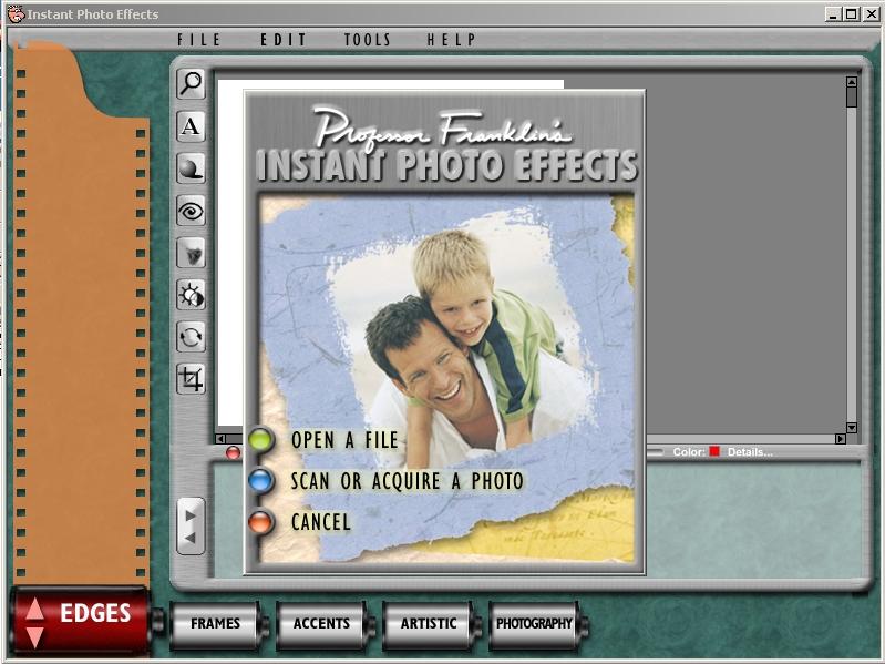 Cкачать торрент Professor Franklin's Instant Photo Effects 2.0 бесплат