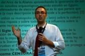 Jorge Cortell podczas wygłaszania kontrowersyjnego wykładu (fot. www.jorge.cortell.net).
