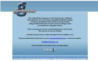 Witryna Grokster. Stan na 8. listopada 2005 roku