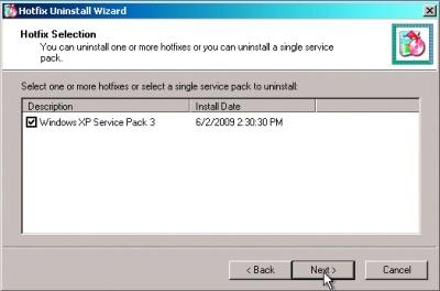 Jeśli dodatek Service Pack 3 sparaliżował system, możesz go odinstalować z poziomu systemu ratunkowego DaRT.