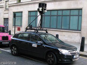 Auto ekipy Street View w Londynie | Źródło: CNN