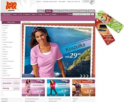 Bonprix.pl to obecnie największy sklep odzieżowy w polskiej sieci (960 tys. real users wg Megapanel PBI\Gemius)
