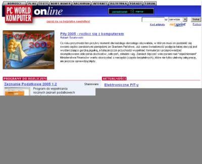 Sekcja Pity 2005 - zobacz jak prosto wypełnić zeznanie podatkowe
