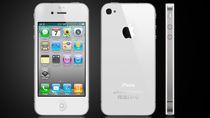 iPhone 4 w białej obudowie.