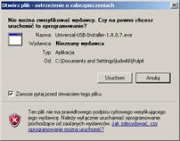 Universal USB Installer - uruchamianie