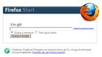 Jeśli wierzyć stronie startowej Firefoksa, współpraca między Mozillą a Google kwitnie...