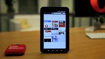 Strona szybkiego wybierania Opery na tablecie Galaxy Tab