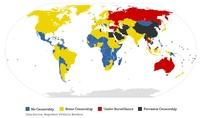 Cenzura internetu na świecie, według badań Reporterów bez Granic.