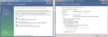 Pierwszy etap w programie Microsoft Baseline Security Analyzer to przeprowadzenie inspekcji bezpieczeństwa (Scan a computer). Istnieje możliwość wykonania tej operacji na zdalnym komputerze (w sieci lokalnej lub w Internecie). Można też dokładnie określić, gdzie bądź w czym program ma szukać luk bez
