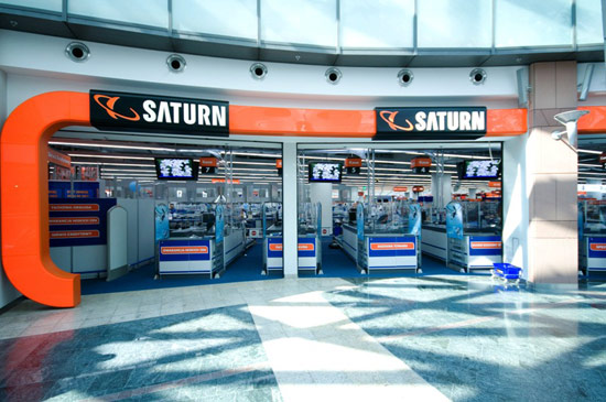 Salon sieci Saturn w warszawskim Centrum Handlowym Złote Tarasy