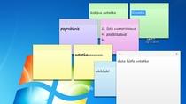 Notatki na Pulpicie Windows 7 mogą mieć różne kolory, rozmiary i zawierać różny format tekstu.