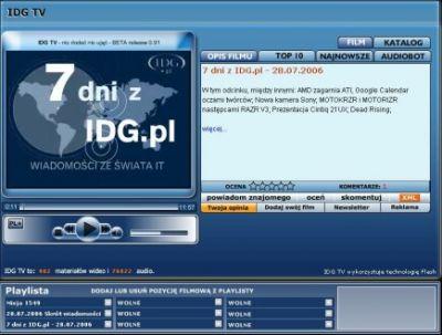 Telewizja portalu IDG.pl w wersji beta