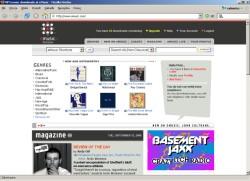 Wygodny interfejs sklepu eMusic