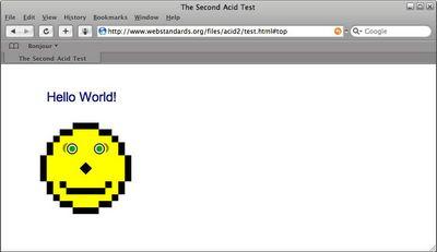 Safari pomyślnie przechodzi test Acid2