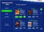 Ekran kiosku wypożyczalni DVD w Cyfrosferze