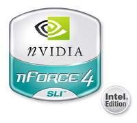 Logo chipsetu NVIDIA nForce4 SLI Intel Edition