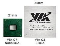 Procesor VIA C7 w porównaniu z modelem C3