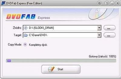 DVDFab Express (Free Edition) - zaletą programu jest niezwykle prosty interfejs.
