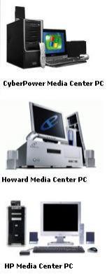 Przykłady dostępnych w USA komputerów z Windows XP Media Center.