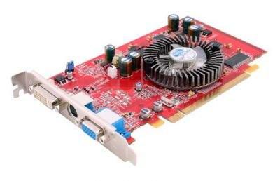 Karta graficzna firmy Sapphire wyposażona w procesor graficzny ATI Radeon X550 i 128 MB pamięci DDR