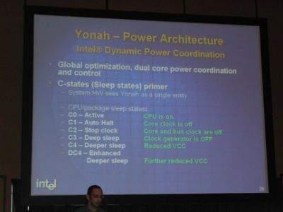 Poszczególne etapy przejścia na niższe poziomy zasilania rdzenia procesora