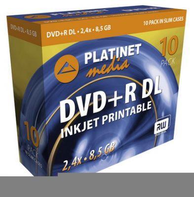 Nośniki DVD R DL Platinet inkjet
