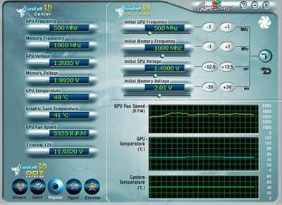 Panel sterowania programu do zmiany parametrów pracy karty graficznej MSI MSI NX6600GT-VT2D128 Diamond