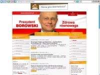 Borowski.pl, czyli miniportal kandydata SDPL.