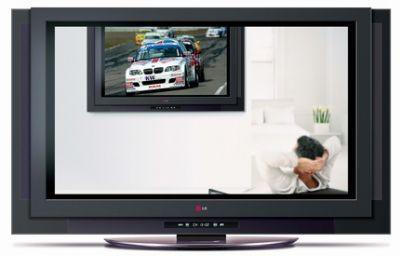 Telewizor plazmowy LG P72DR wyposażony w 160-gigabajtowy dysk twardy pełniący funkcję cyfrowego magnetowidu