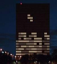 W Tetrisa grano nawet na... budynkach! (fot. Engadget.com)