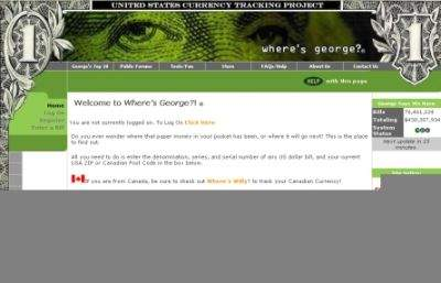 Witryna 'Where is George'