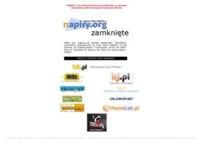 Tak wciąż wygląda serwis Napisy.org. Czy już wkrótce zostanie odblokowany?