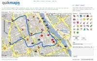 quikmaps to doskonały serwis do szybkiego tworzenia map podróży,  planów z naniesioną trasą dojazdu do danego miejsca itp.