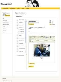 Edycja stron odbywa się w trybie graficznym.