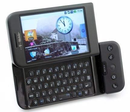 G1 to pierwszy telefon na rynku wyposażony w system operacyjny Android opracowany przez Google'a