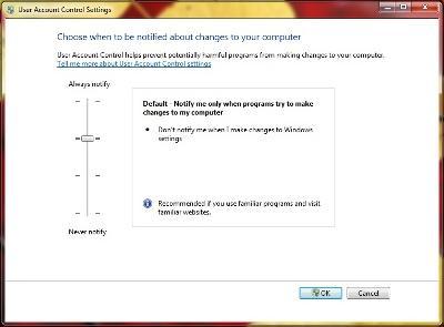 UAC w Windows 7 można konfigurować