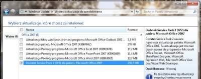 SP2 dla Office'a 2007 dostępny już jest w aktualizacjach automatycznych