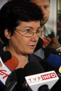 Prezydent Warszawy Hanna Gronkiewicz-Waltz podczas briefingu prasowego w ratuszu (źródło: www.um.warszawa.pl)