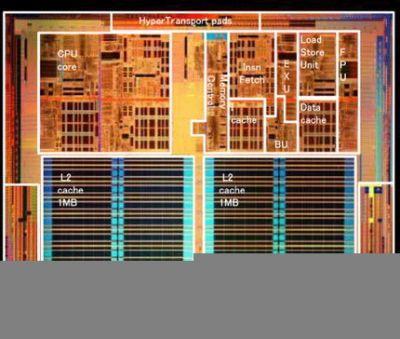 Nowy rdzeń procesora dwurdzeniowego AMD ma m.in. pamięć L2 zajmującą mniej miejsca niż u poprzednika, wymiana danych pomiędzy rdzeniami, a pamięcią także ma zostać przyspieszona co ma istotne znaczenie ze względu na wprowadzenie obsługi pamięci DDR2