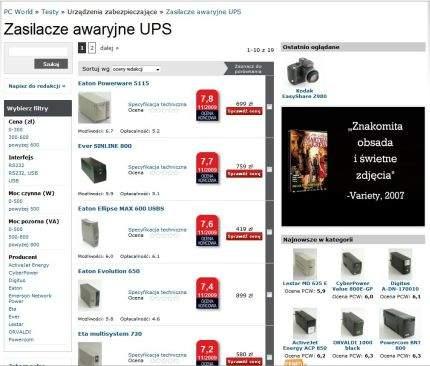 PCW Testy - ranking zasilaczy awaryjnych UPS