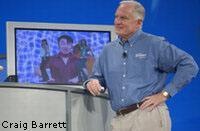 Szef Intela - Craig Barret podczas IDF