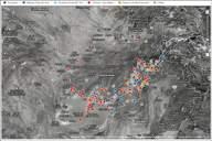 Interaktywna mapa najważniejszych wydarzeń z wojny w Afganistanie z lat 2004-2010, sporządzona w oparciu o dokumenty udostępnione przez WikiLeaks (źródło: The Guardian).
