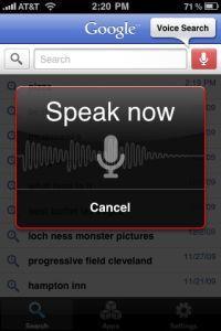 Voice Search w wersji na iOS