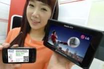 Dwa mobilne odbiorniki telewizyjne LG