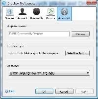 Minusem Dropboxa jest konieczność korzystania ze zdefiniowanego na stałe folderu synchronizacji