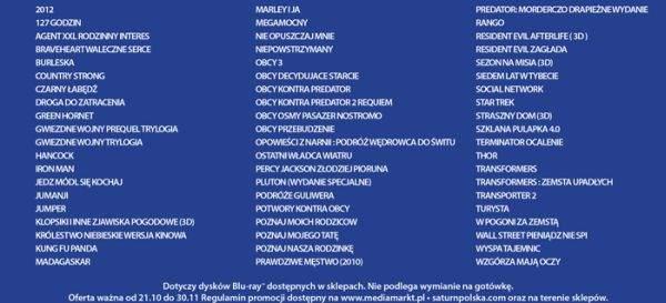 Lista filmów Blu-ray