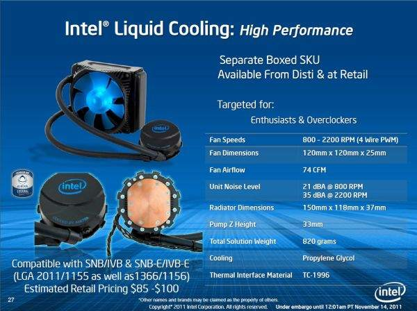 Intel nie zdecydował się na dołączenie do zestawu swojego zestwu chłodzenia. Musimy je kupić we własnym zakresie i najlepiej, by było to chłodzenie wodne.