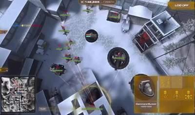 Tryb RTS - tak grę widzi dowódca.