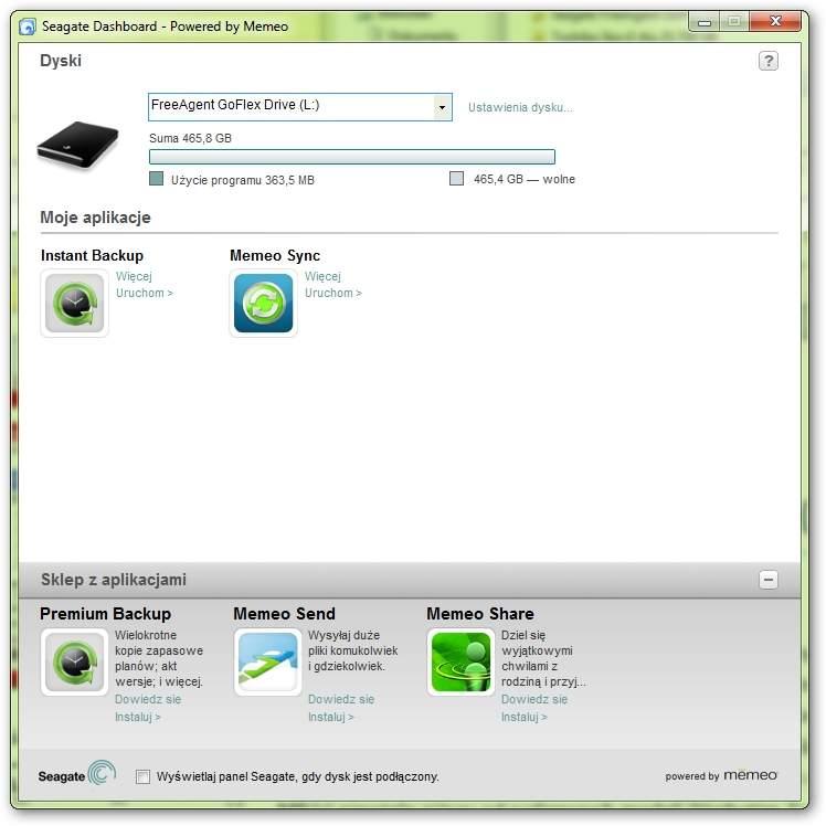 Seagate FreeAgent GoFlex 500 GB