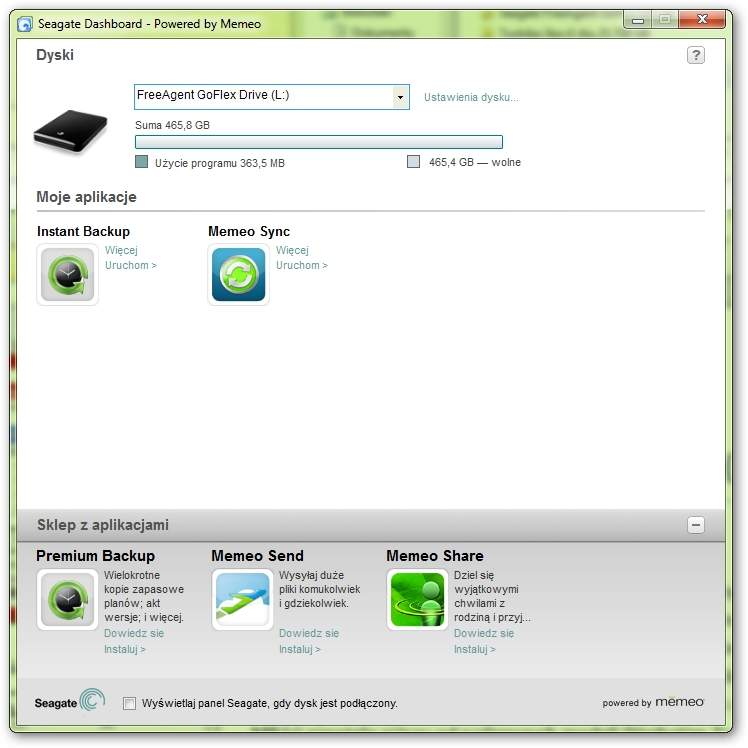 Seagate FreeAgent GoFlex Slim 320 GB